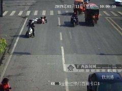 钦州:电动车撞人还抵赖 天网还原事故