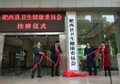 肥西县卫生健康委员会正式挂牌