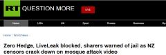 新西兰严厉打击枪击案视频传播者,多
