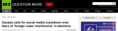 因担心外国网络干涉选举 加拿大呼吁对