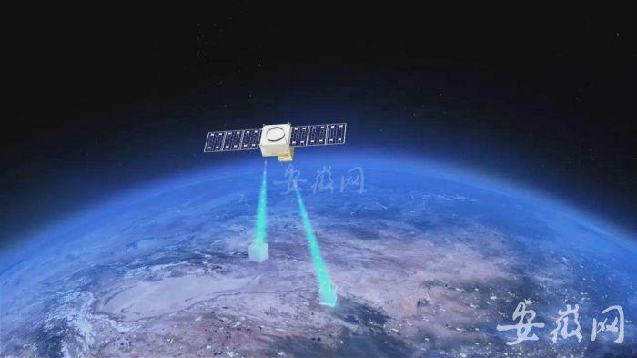 """""""墨子号""""量子卫星模拟图(资料图片)"""